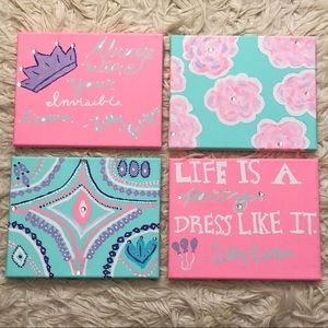 Lilly Pullitzer inspired canvas art!